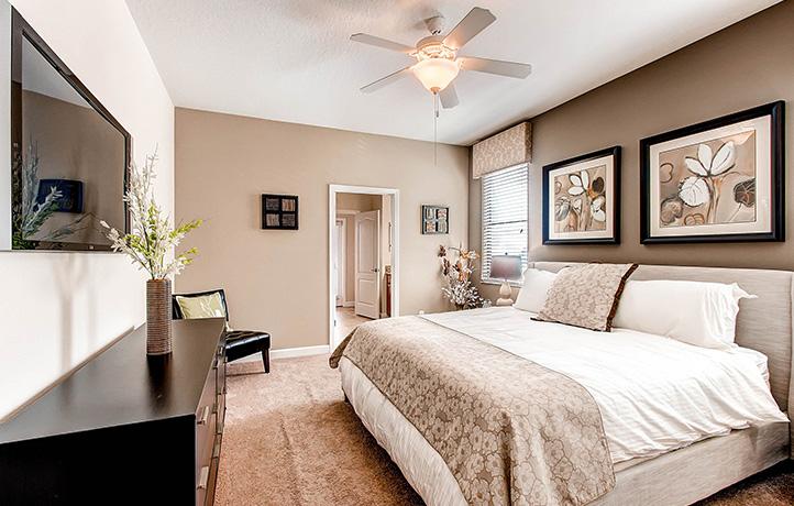 The Retreat Maui Master Bedroom, Champions Gate Golf Davenport, Florida, USA