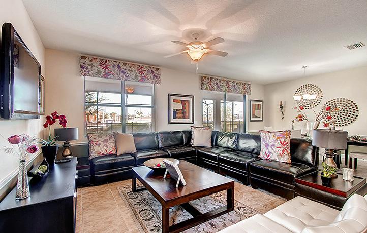 The Retreat Maui Living Room, Champions Gate Golf Davenport, Florida, USA
